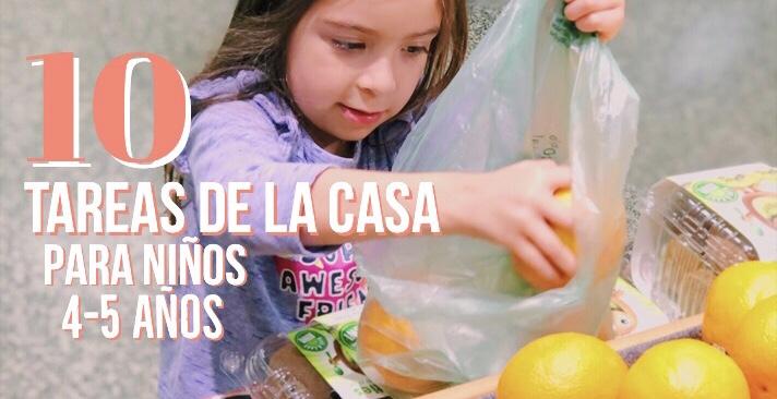 10 Tareas de la casa para niños de 4-5años