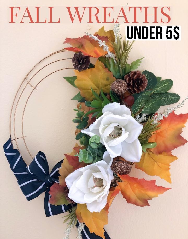 Fall wreath under 5$DIY