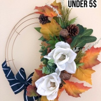 Fall wreath under 5$ DIY